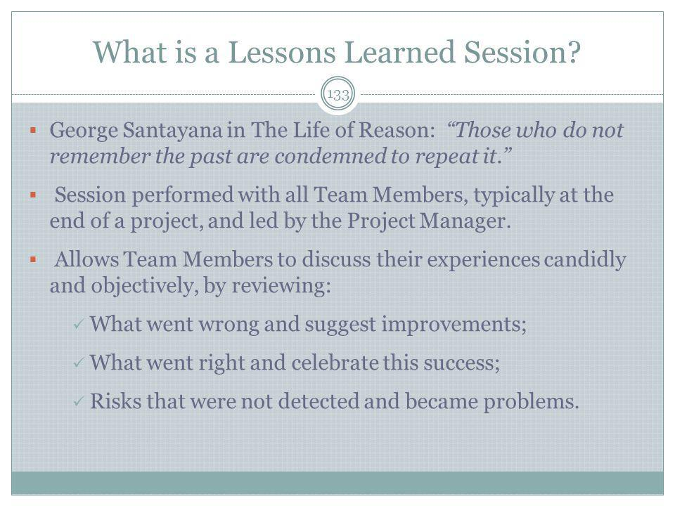 What is a Lessons Learned Session
