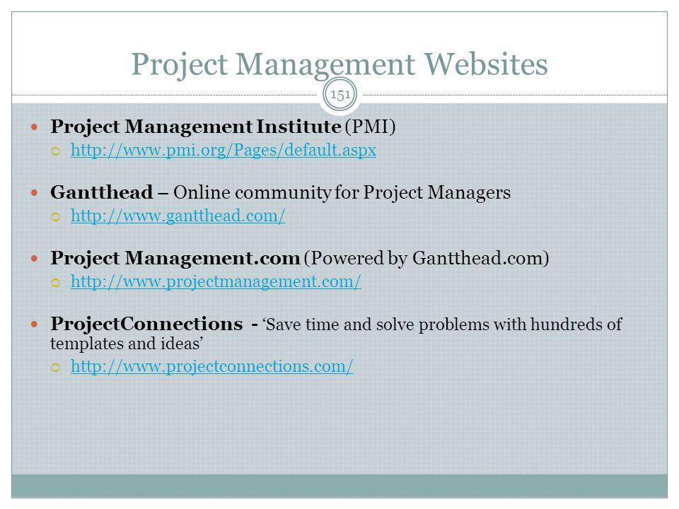 Project Management Websites