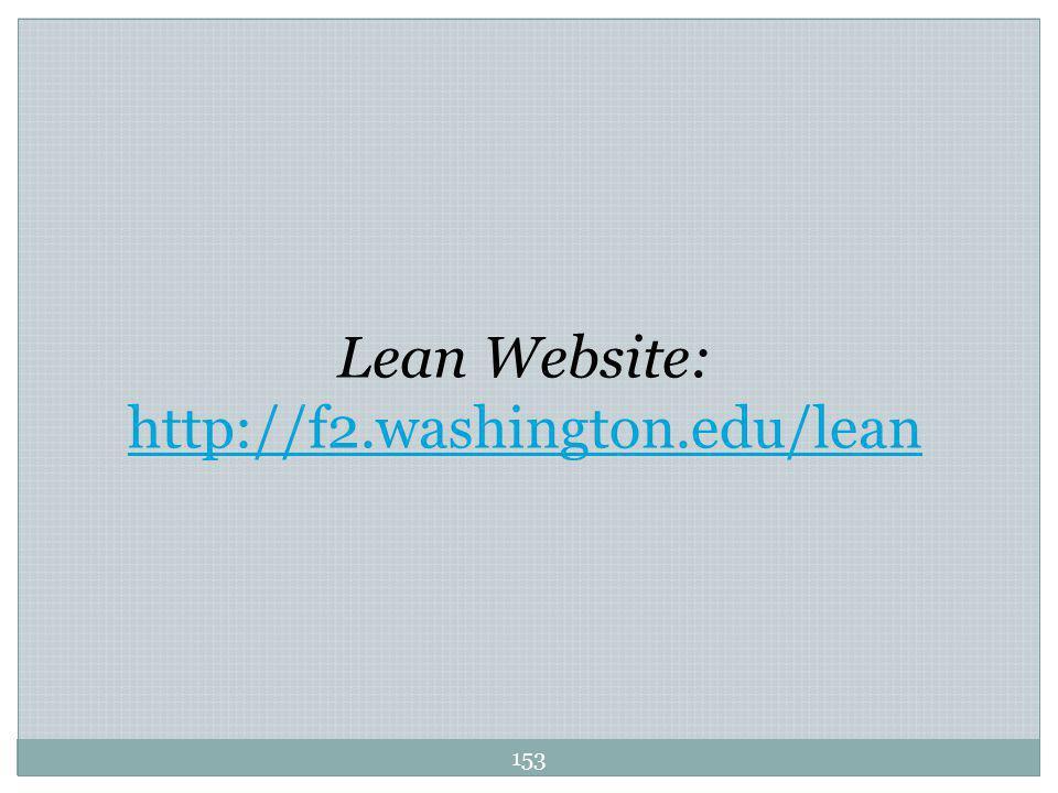 Lean Website: http://f2.washington.edu/lean