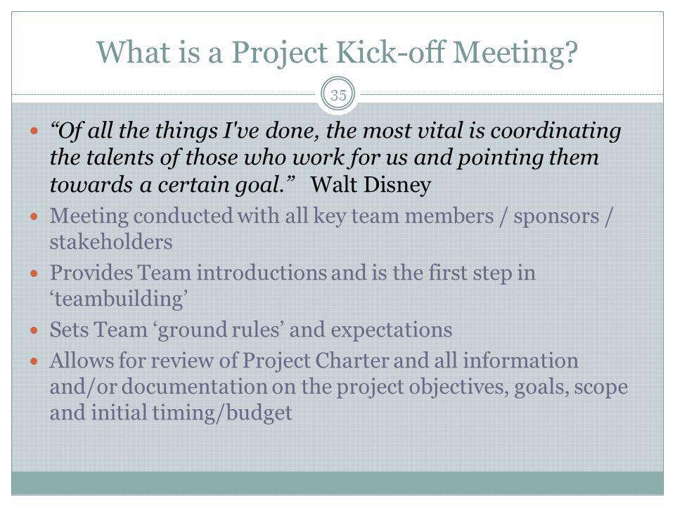 What is a Project Kick-off Meeting