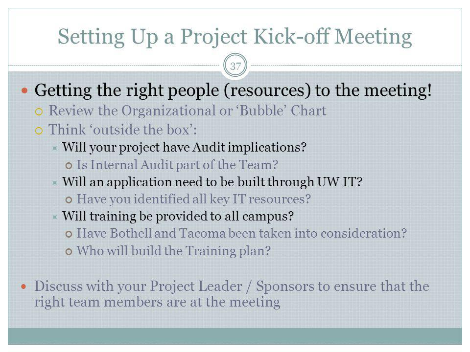 Setting Up a Project Kick-off Meeting