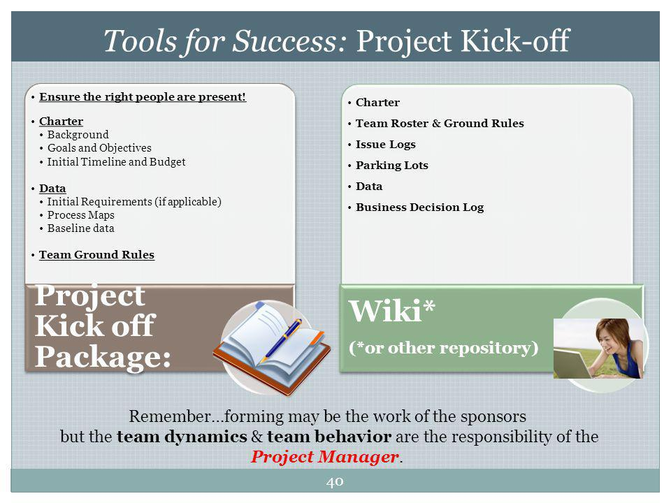 Tools for Success: Project Kick-off