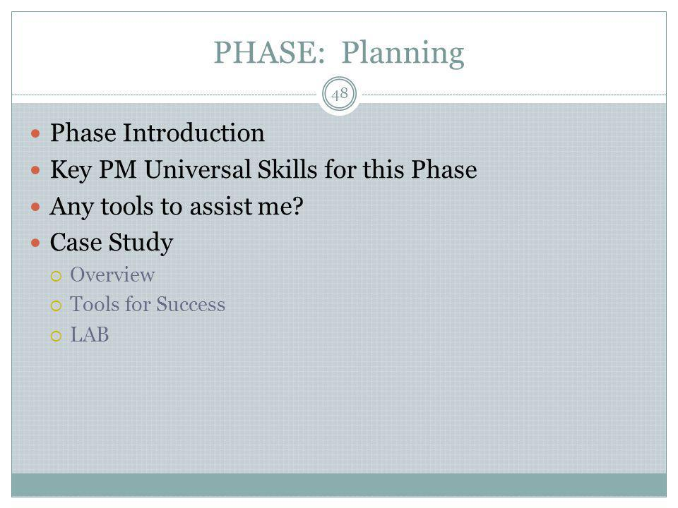 PHASE: Planning Phase Introduction