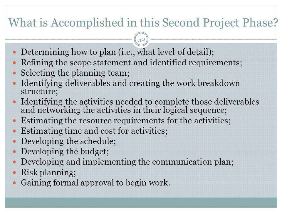 What is Accomplished in this Second Project Phase