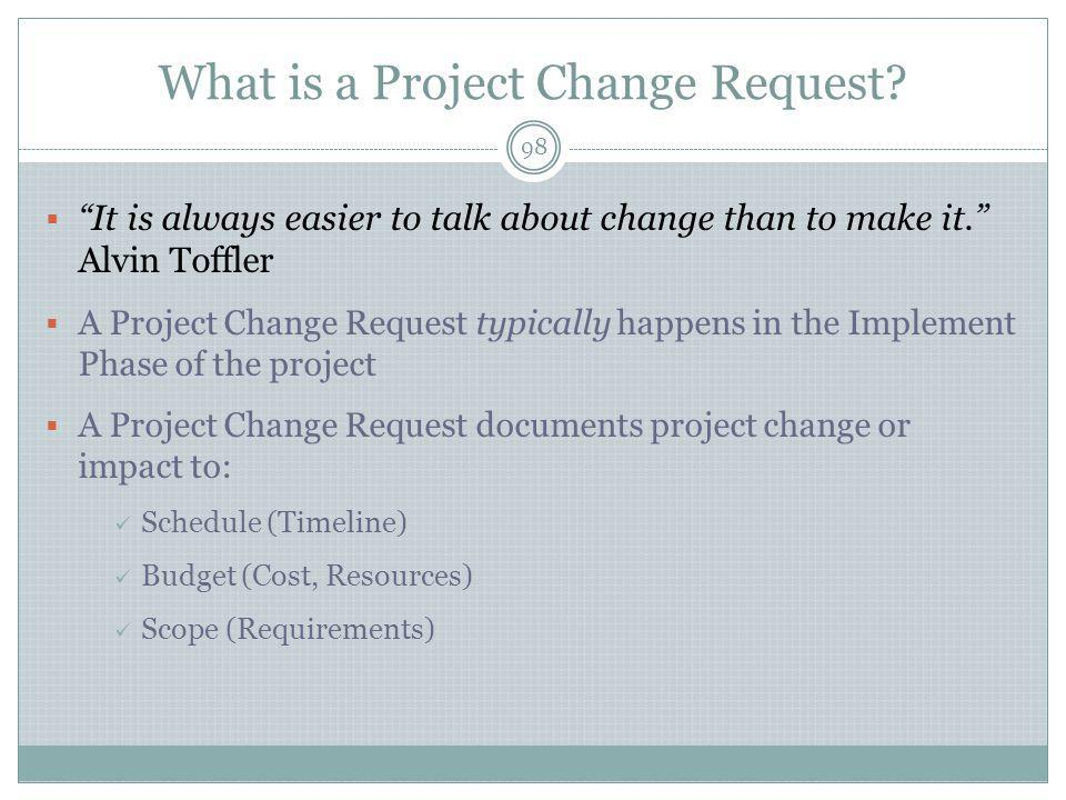 What is a Project Change Request