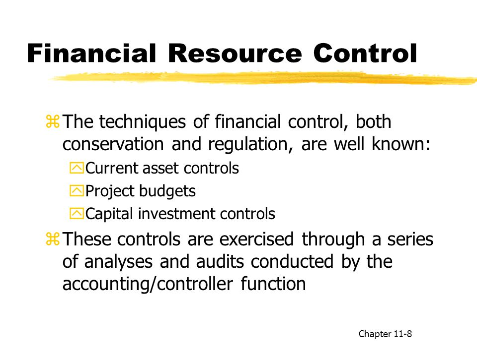 Financial Resource Control