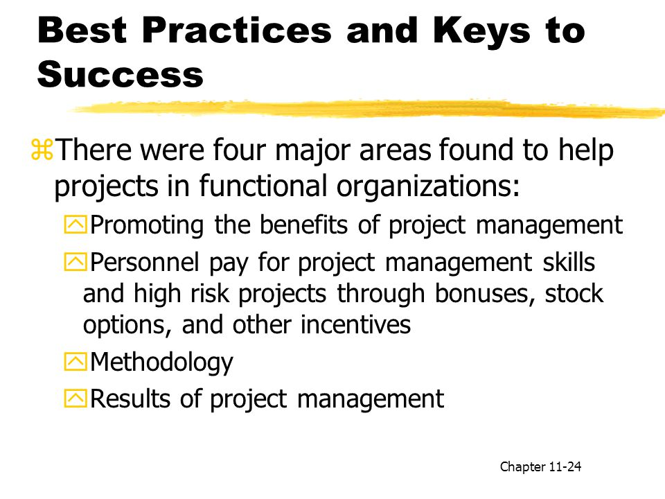 Best Practices and Keys to Success