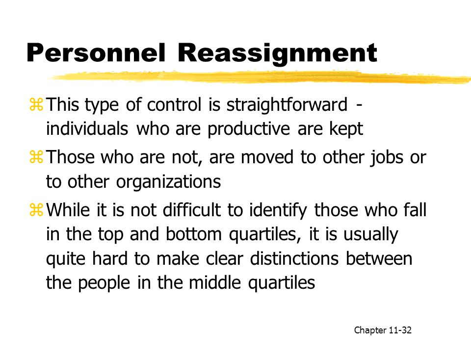 Personnel Reassignment