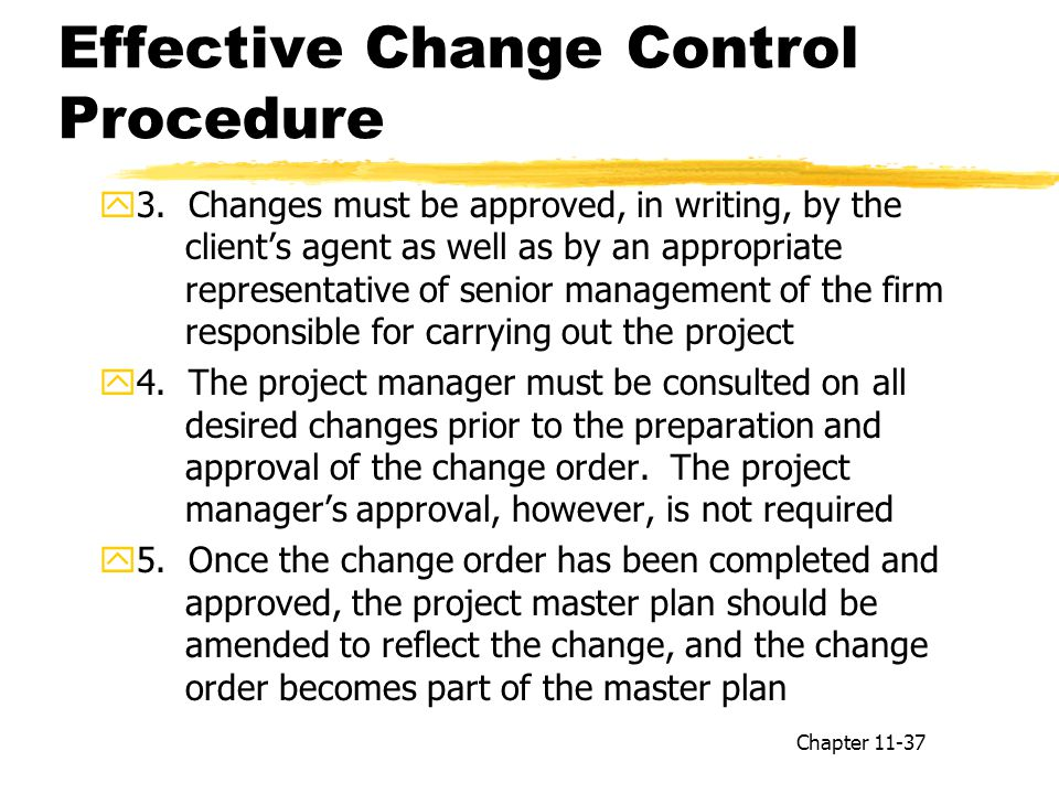 Effective Change Control Procedure