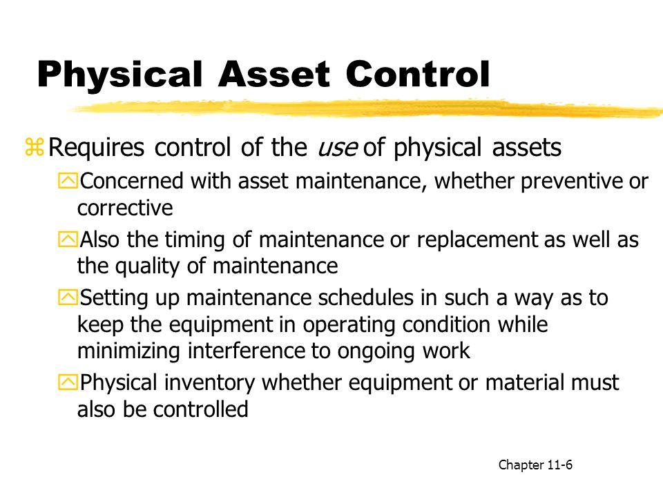 Physical Asset Control