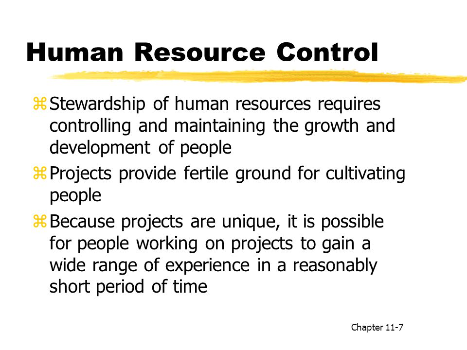 Human Resource Control