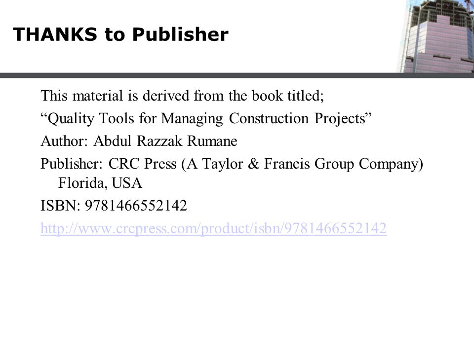 THANKS to Publisher This material is derived from the book titled;