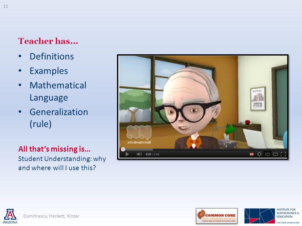 Mathematical Language Generalization (rule)