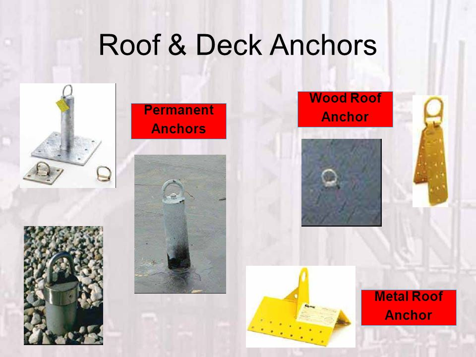 Roof & Deck Anchors Wood Roof Anchor Permanent Anchors Metal Roof
