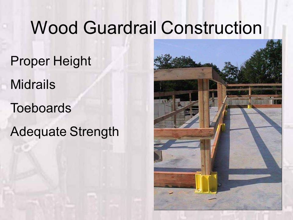 Wood Guardrail Construction