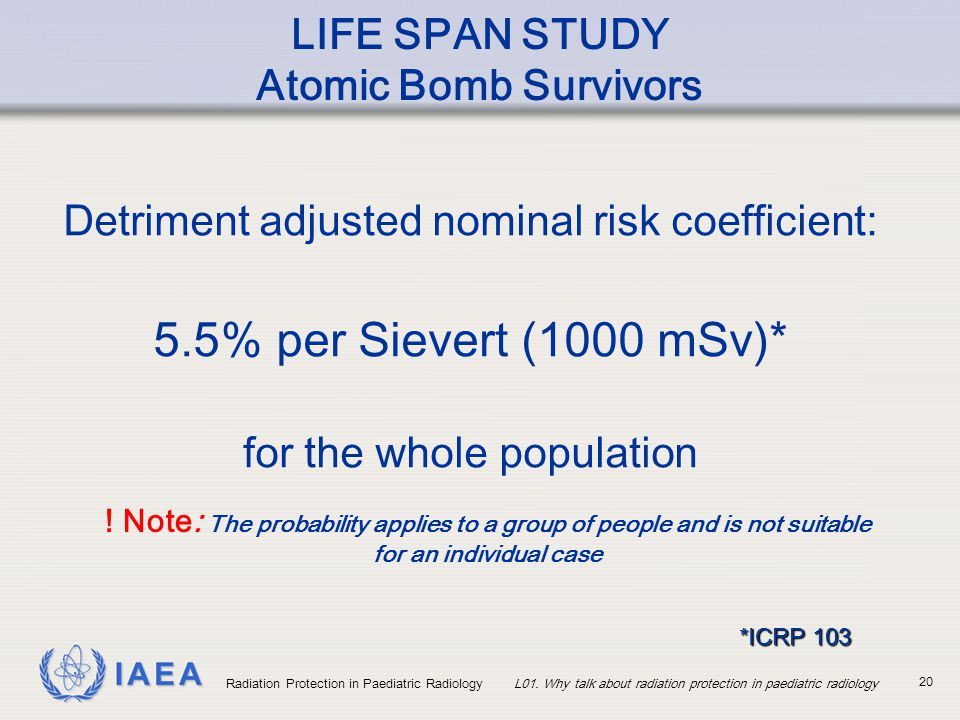 LIFE SPAN STUDY Atomic Bomb Survivors
