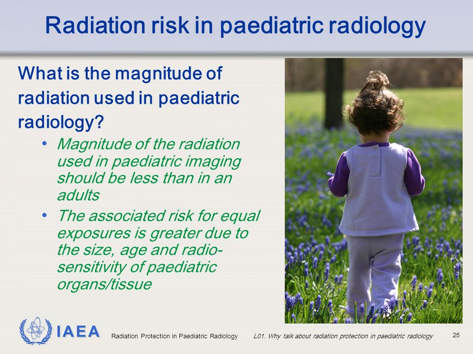 Radiation risk in paediatric radiology