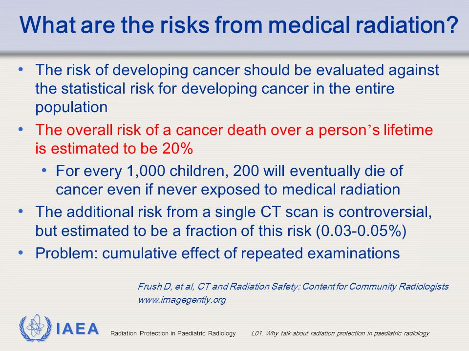 What are the risks from medical radiation