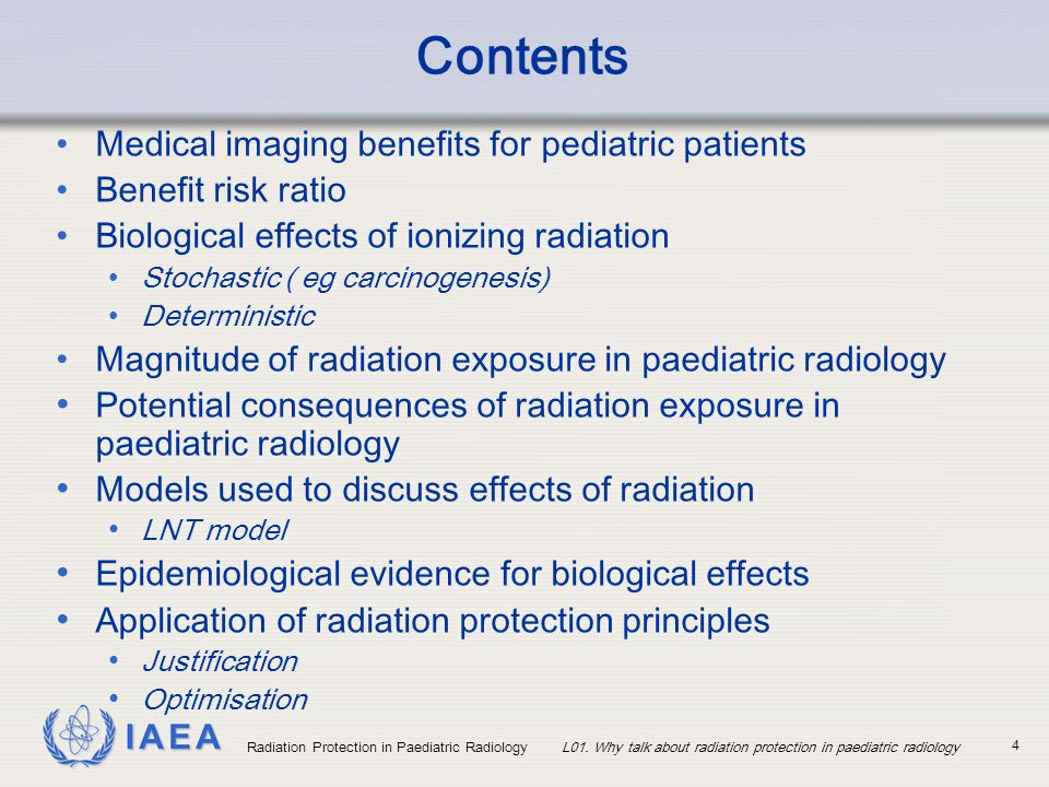 Contents Medical imaging benefits for pediatric patients