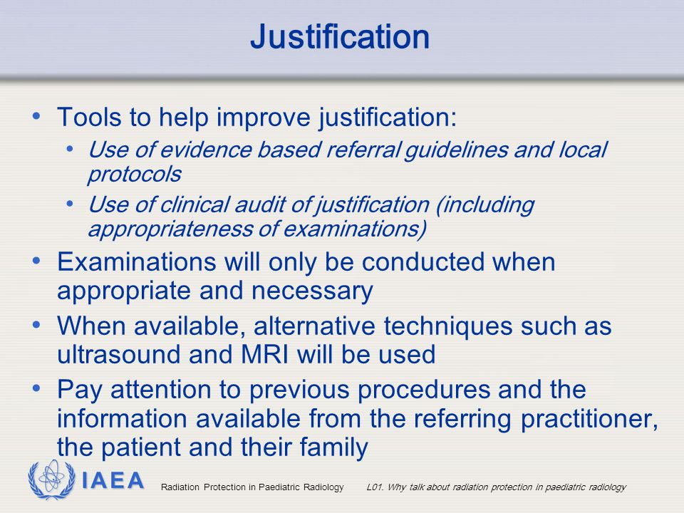 Justification Tools to help improve justification: