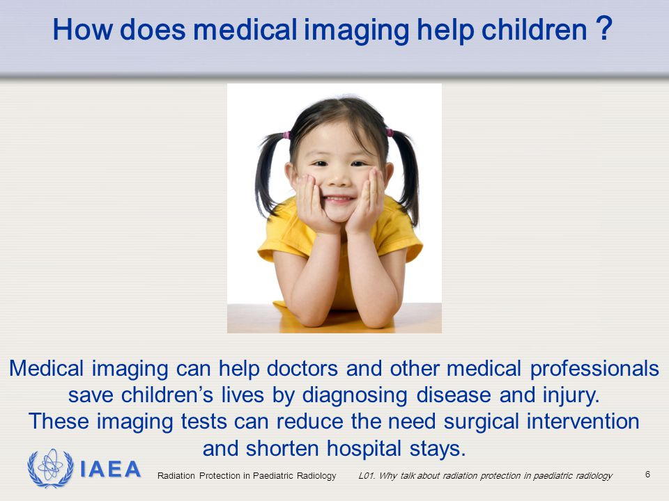 How does medical imaging help children