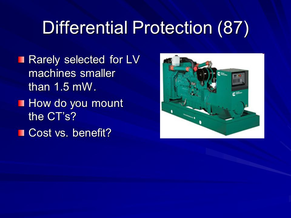 Differential Protection (87)