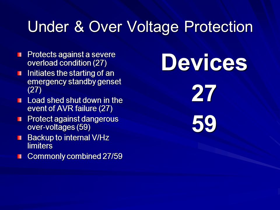 Under & Over Voltage Protection