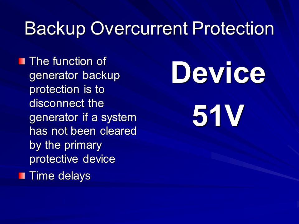 Backup Overcurrent Protection