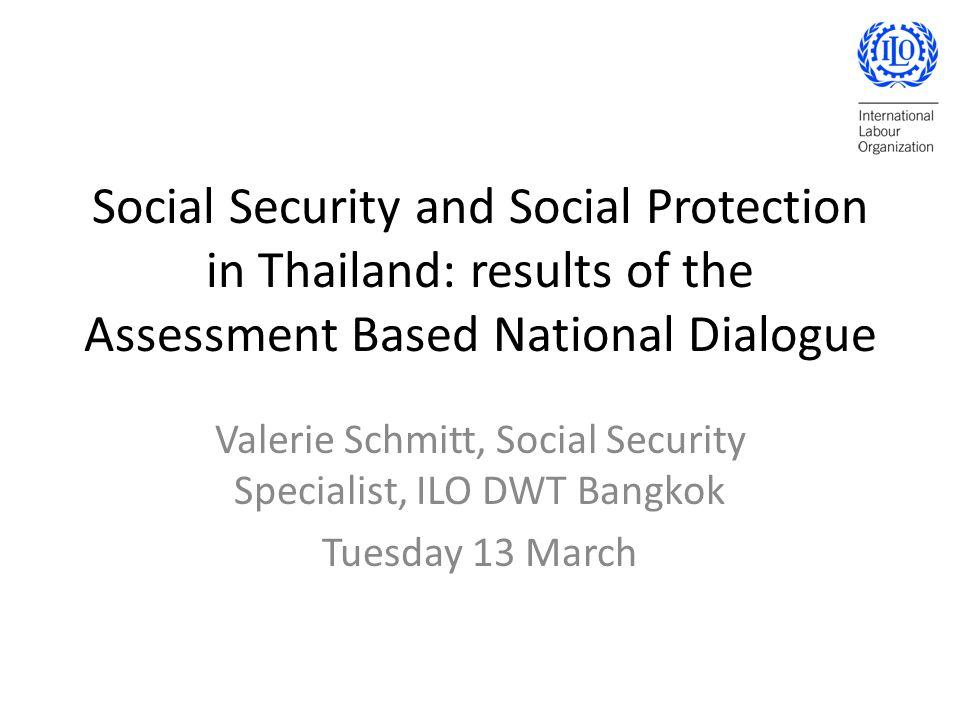 Valerie Schmitt, Social Security Specialist, ILO DWT Bangkok