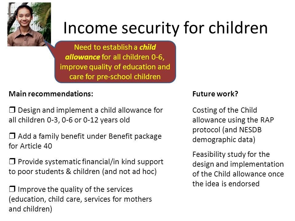 Income security for children