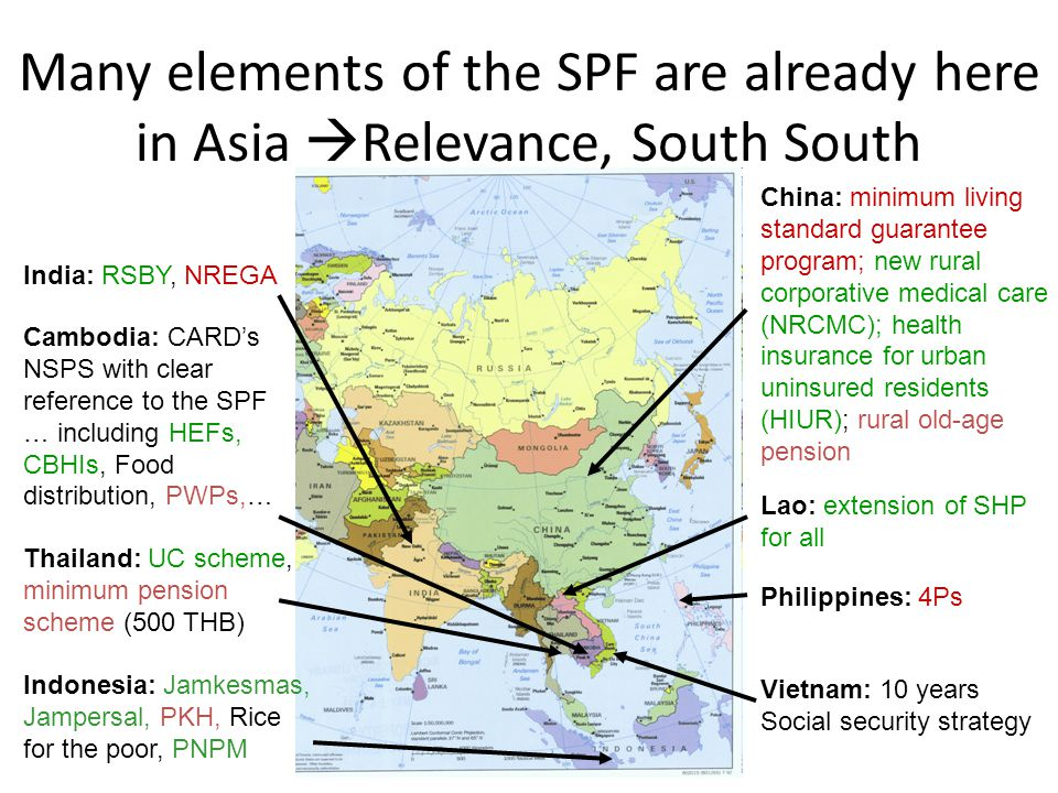 Many elements of the SPF are already here in Asia Relevance, South South
