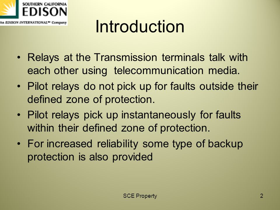 Introduction Relays at the Transmission terminals talk with each other using telecommunication media.