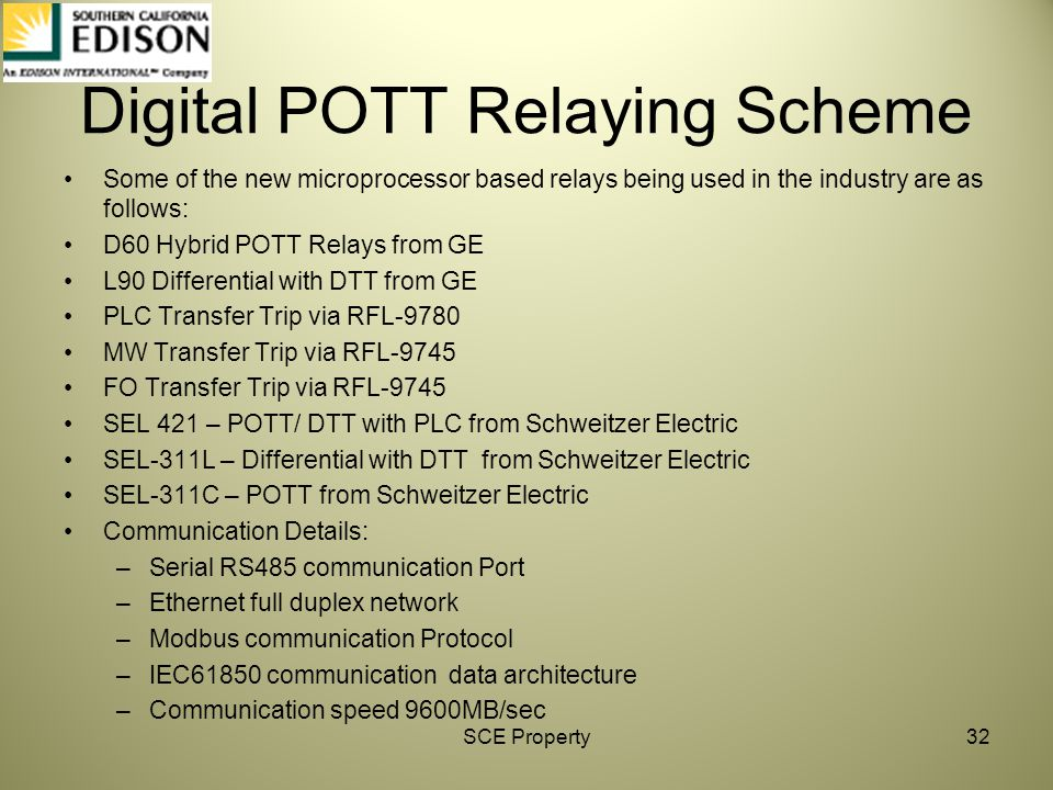 Digital POTT Relaying Scheme