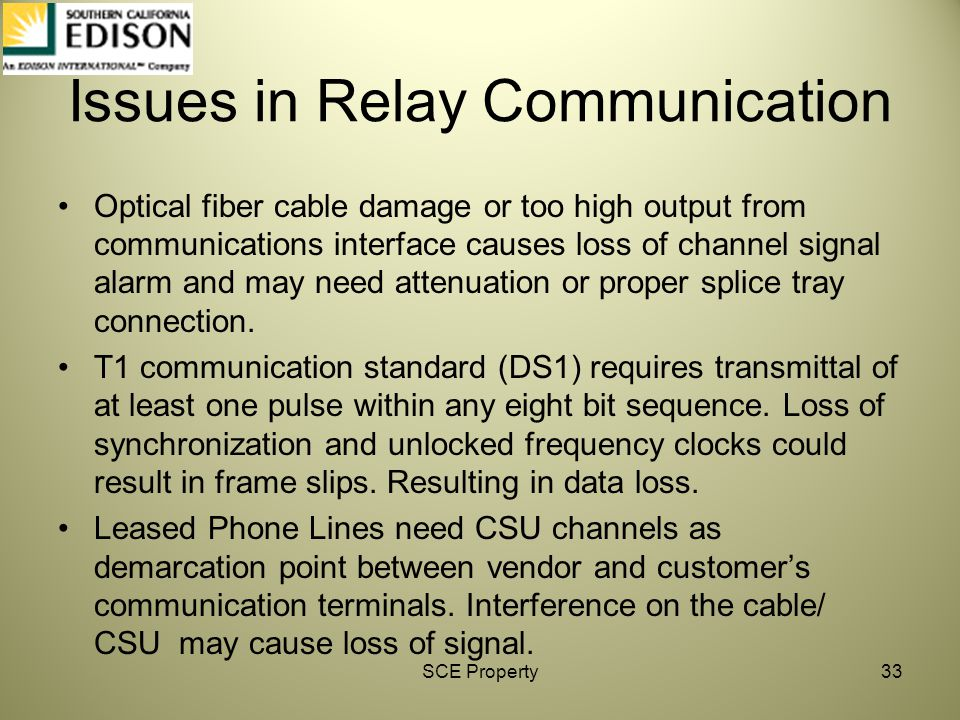 Issues in Relay Communication