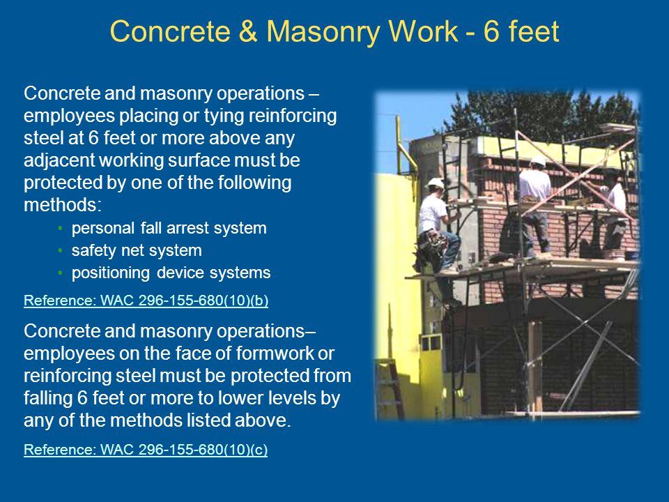 Concrete & Masonry Work - 6 feet