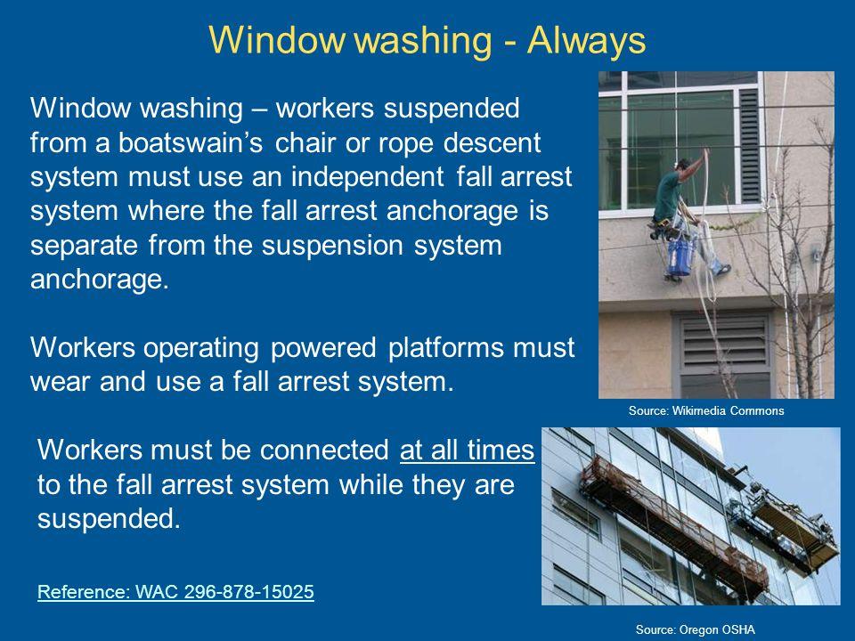 Window washing - Always