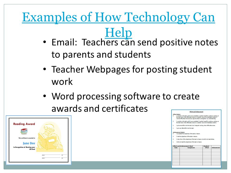 Examples of How Technology Can Help