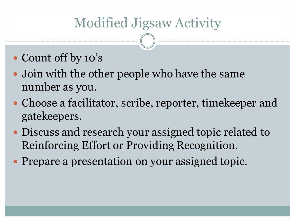 Modified Jigsaw Activity