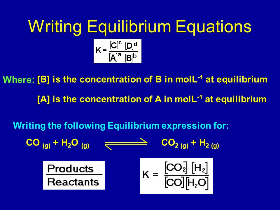 Writing Equilibrium Equations