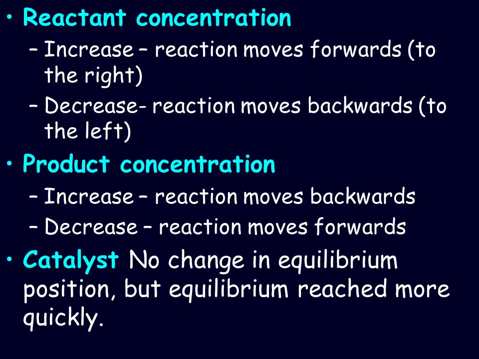 Reactant concentration