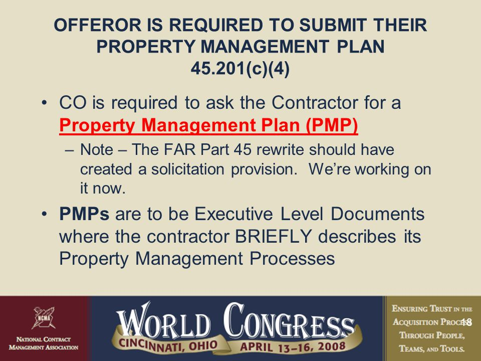 OFFEROR IS REQUIRED TO SUBMIT THEIR PROPERTY MANAGEMENT PLAN 45