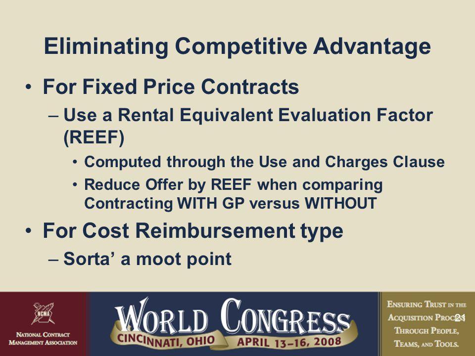 Eliminating Competitive Advantage
