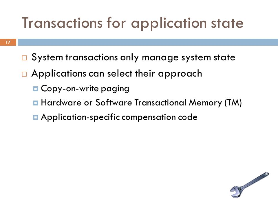 Transactions for application state