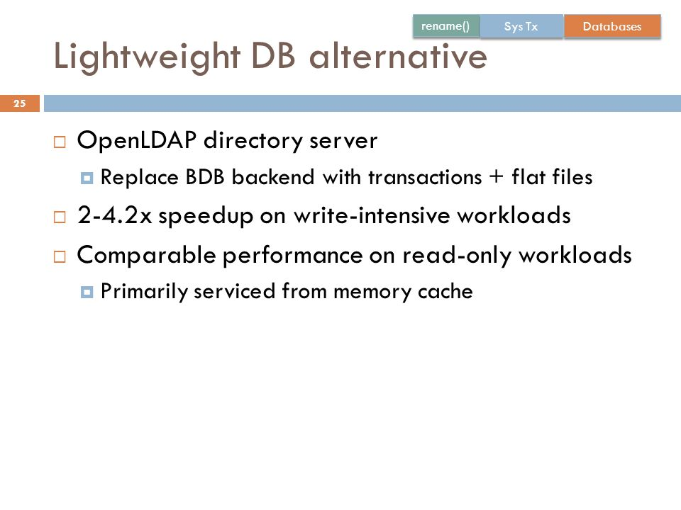 Lightweight DB alternative