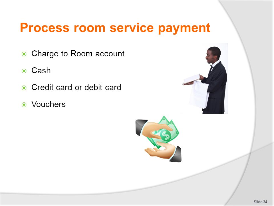 Process room service payment
