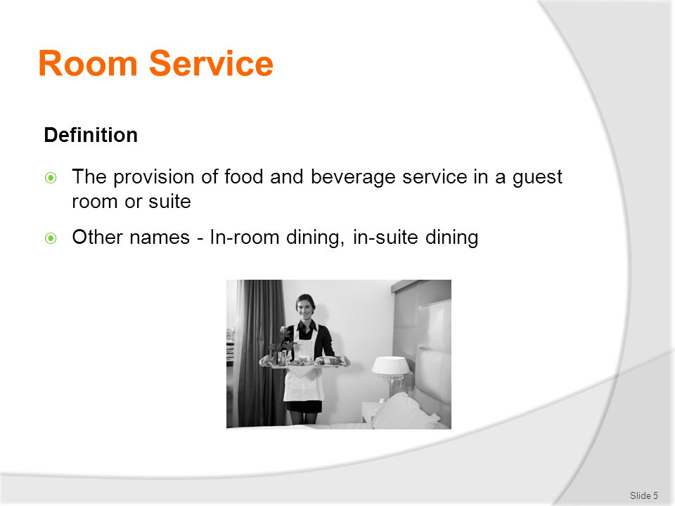 Dining Room Preparation And Service Meaning 5 Definition Provide D1 Hbs Cl Ppt