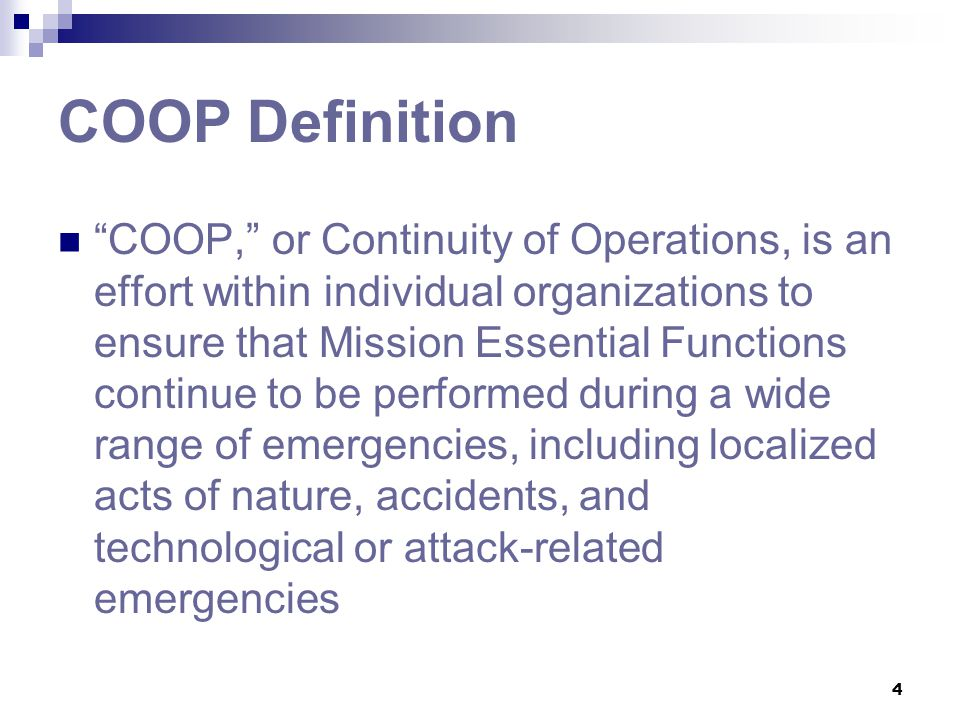 COOP Definition