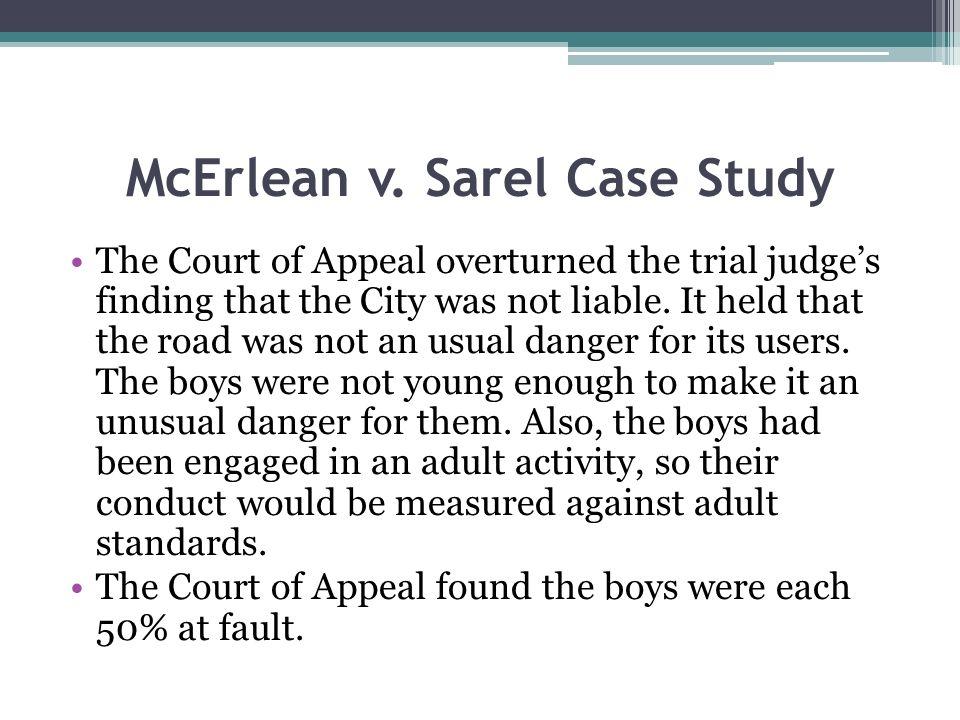 McErlean v. Sarel Case Study