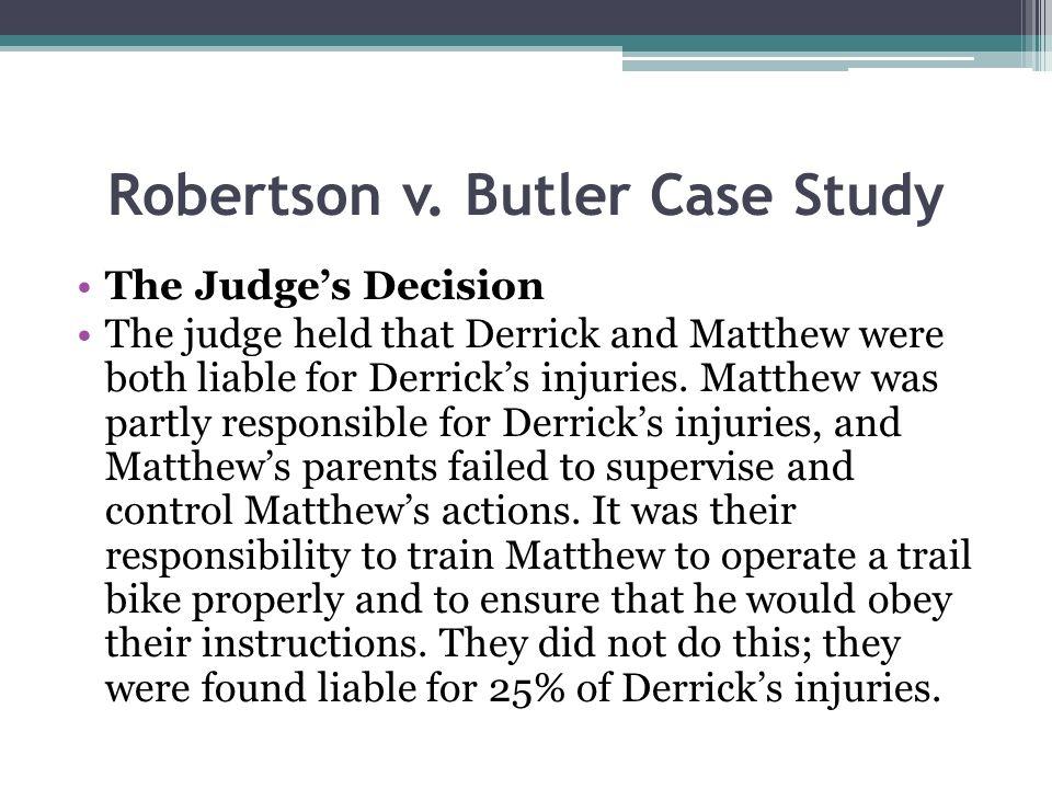 Robertson v. Butler Case Study