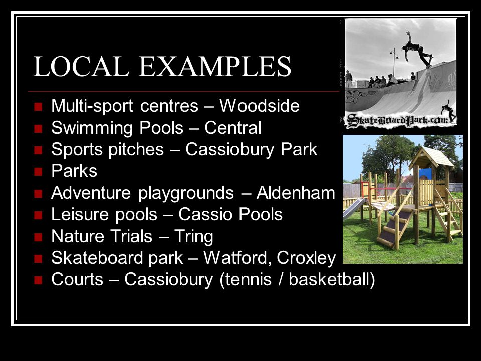 LOCAL EXAMPLES Multi-sport centres – Woodside Swimming Pools – Central
